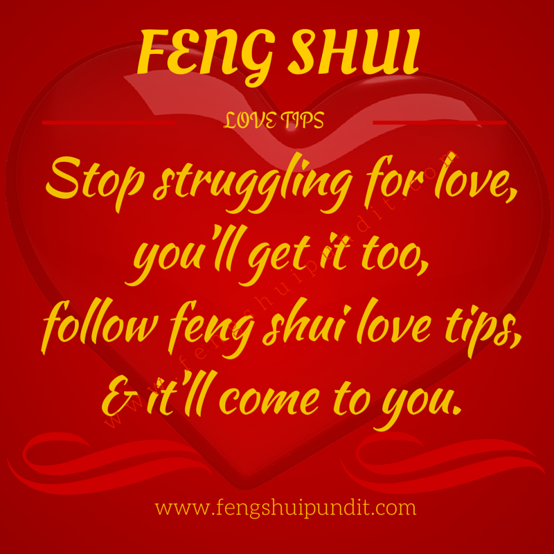 Feng shui to meet a man