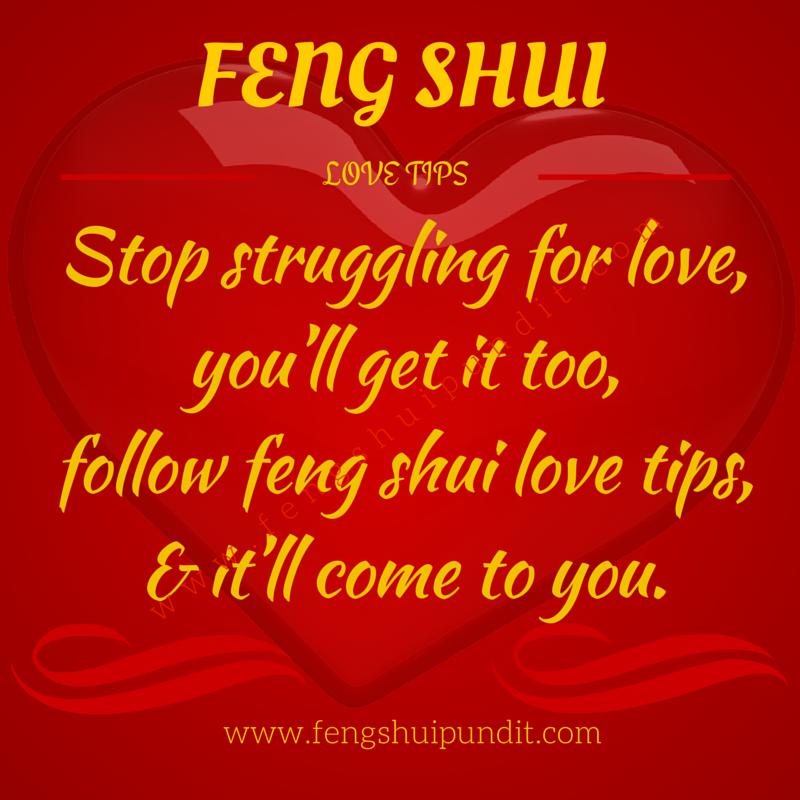 Feng Shui Love Tips